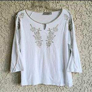 Chico's Embroidered Top